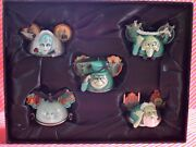 New Disney Haunted Mansion Ear Hat Ornament Set Limited Edition