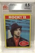 1979 Topps Rocky Balboa Rookie 1 Bgs 8.5 Silver Label Boxing Sylvester Stallone