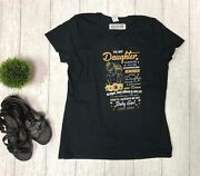 Womenand039s Daughter Love Mom Black Graphic T-shirt Gifts Ladies Large