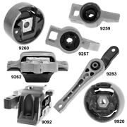 Eng And Trans Mounts W. Torque Strut And Control Arm Bushings For Audi A3 13-08 2.0l