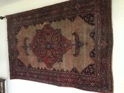 Antique Oriental Rug Approx 4 X 7andrsquo4andrdquo Sarouk Wall Hanging