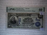 1902 10 Troy New York Ny National Currency Date Back 7612 Pmg 40 Ms