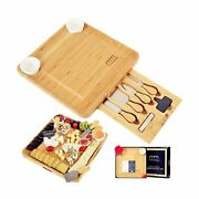 Cheese Board And Cutlery Set Top Quality Elegant Packaging Unique Bamboo Ch...
