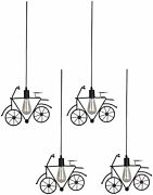 Somil And Stylish Bicycle Hanging Lamp Lightset Of Four-r4t