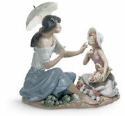 Lladro As Pretty As A Flower Mother Figurine 01006910 New Free Ship Porcelain