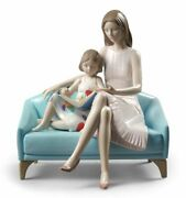 Lladro Our Reading Moment Mother Figurine Free Ship New 01009225 Porcelain
