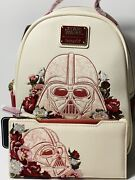 Loungefly Disney Star Wars Darth Vader Floral Embroidered Mini Backpack + Wallet