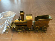 Vintage Train O Scale Brass Cast Iron Locomotive Engine With Tender And Track