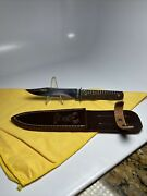 Case Tested 1920 1940s Hunting Knife Beautiful Green Bone Handle Nice Excellent