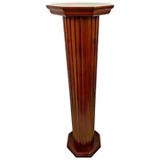 Vintage Roman Style Column Tall Bust Plant Stand Pedestal Wood Composite Resin