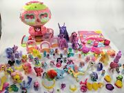 Large My Little Pony Lot 55+and Pinky Pie Balloon House, Accessories, Miniatures +