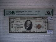 1929 10 Albuquerque New Mexico Nm National Currency T1 2614 Pmg 55 Ms
