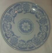 Antique Chinese Blue And White Vines And Flowers Porcelain Plates Dishes