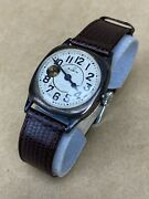 Elgin 1910andrsquos Wwi Military Sterling Silver Antique Wristwatch