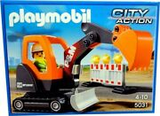 Playmobil Toy Play Set 5031 Mini-excavator Construction Worker Backhoe Digger