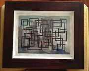 Peter Schuyff Original Drawing On Paper Signed