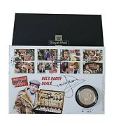 Signed By David Jason Only Fools And Horses Silver Medal Coin Royal Mail Stamps