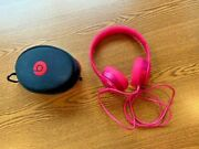 Beats By Dr. Dre Solo Corded Headphones- Pink With Case Black