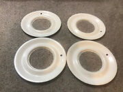 Set 15 Trim Ring White Wall Hubcaps Wheel Covers Simulated Whitewall