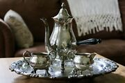 F.b. Rogers Silver Company Coffee Tea Set - Silver On Copper 2 Not Marked