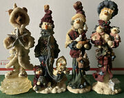Lot Of 4 Vintage Boyd Bears And Friends Folkstone Collection Figurines Christmas