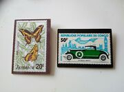 Rare Vintage Jamaica And Congo Postage Stamp Pin Badges