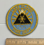 Lake Placid Ny Fire Department Dept. Winter Olympics Logo Rings Round Patch