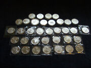 Super Complete Set Of 35 Unc.1986-2020 American Silver Eagles In Nice Wooden Box