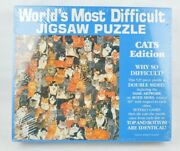 Worldand039s Most Difficult Jigsaw Puzzle Cats Edition 529 Piece Double-sided 1991