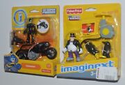 Catwoman And Catcycle And Penguin Imaginext Dc Super Friends Mip Rare