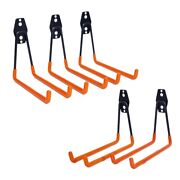 10x5 Pack Heavy Duty Garage Storage Hooks For Ladders And Tools Wall Mount Garage