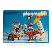 Playmobil 3646 Vintage Color Tiger Trainer Animal Unpainted Paint Set Circus New