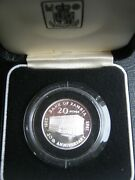 Zambia 1985 Proof 20 Ngwee Coin 20th Anniversary Of Bank Of Zambia Cased