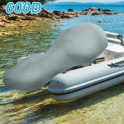 600d Oxford Cloth Motor Full Outboard Boat Engine Cover Fit Up To 100-150hp Gray