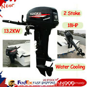 2 Stroke 18hp Outboard Motor Fishing Boat Engine 13.2kw W/ Water-cooling System