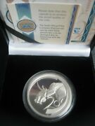 South Africa 2003 1 Oz Silver Proof 20 Cents Coin The Rhino Wildlife Series