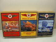 3 New Wings Of Texaco Die-cast Bank Airplanes 5th 6th 7th In Series