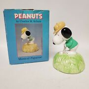 Vintage Willitts Designs Snoopy Golfing Music Box Style 9582 Say A Little Prayer