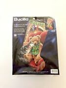 Vintage Bucilla Needlepoint Stocking Kit 60753. The Warmth Of Christmas Rossi
