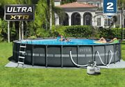 Intex 26339eh 24and039 X 52 Round Ultra Xtr Frame Swimming Pool Set With Filter Pump