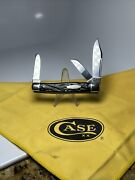 Case Tested 6375 Lp Large Stockman Knife Rough Black Handles 1920-1940 Very Nice