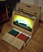 1956 Buick Dealership Lighted Wooden Countertop Car Option Display Box-very Cool