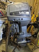 1997 140 Hp Suzuki Efi 2 Stroke 20 Outboard Motor Runs Needs Work Good Compr.