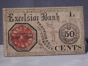 Athens High School Georgia 50 Cents Note Excelsior Bank