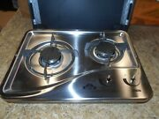Capital 1204ss 2 Burner Drop-in Cooktop Stainless Steel Rv Free Ship 32