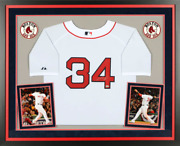 David Ortiz Boston Red Sox Signed Majestic Authentic White Jersey Framed