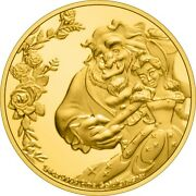 Niue - 2021 - 1/4 Oz Gold Proof - Disney Beauty And The Beast 30th Anniversary