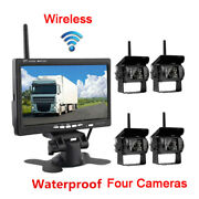 7 Rear View Monitor Wireless+4 Backup Cameras For Car Parking Assistance System