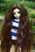 1/3 1/4 1/6 1/8 Bjd Doll Long Wig Curly Hair For Dollfie Sd Luts Aod Coffee