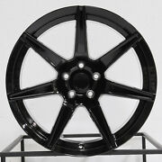 4-new 19 Rep Gt500 Style Fit Mustang Wheel 19x10/19x11 5x114.3 35/50 Black Stag
